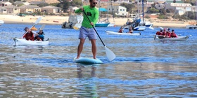 Supping (stand up paddle boarding)