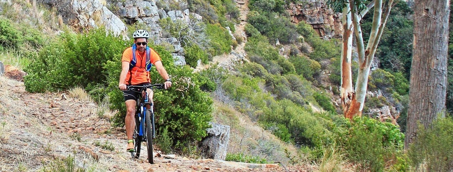 Mounain biking, trails, adventure tourism, Cape Town